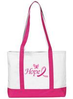 Prestige Medical Hope Ribbon Canvas Tote
