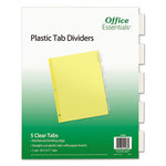 Avery Plastic Tab Dividers(5 Clear Tabs)