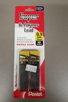 Pentel Super Hi-Polymer 0.9mm Lead Refill 2pk