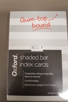 Oxford Shaded Bar Index Cards 4 x 6