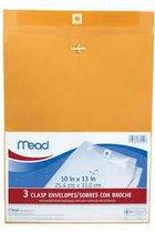 Mead Clasp Envelope 3pk(10 x 13)