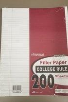 Top Flight College Rule Filler Paper 200ct