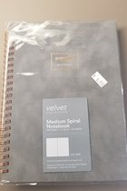 Poppin Velvet Collection Medium Spiral Notebook(Dot Grid)