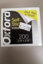 Oxford Half Size Self-Stick Ruled Index Cards
